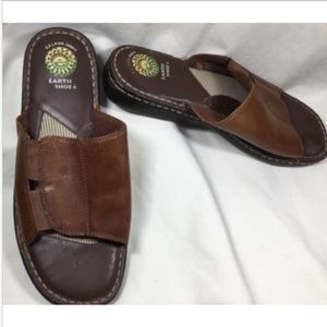 EARTH Superior Brown Leather Sandals 10M